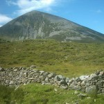 Old Stone Wall Under Croagh Patrick